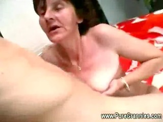 granny receives her pantoons and pussy screwed