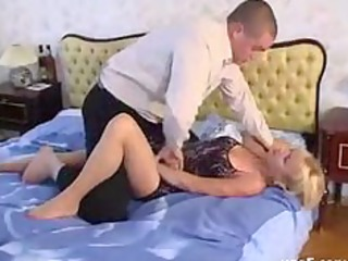 blond mature in hose