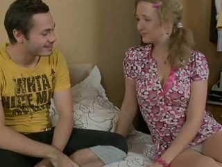 horny legal age teenager explores aged cock