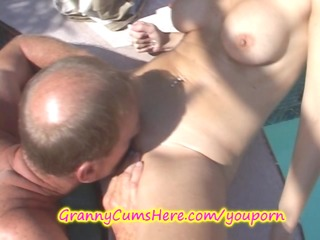 granny has a xxx swingers party and butt licking