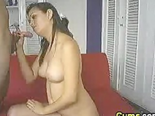 swallowing his sexy cum