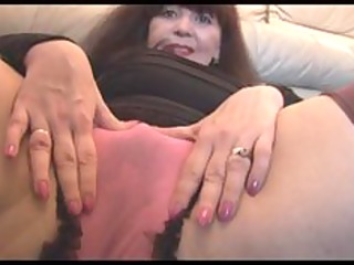 breasty mature with hairy muff teases