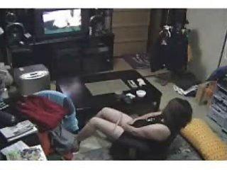 my mum masturbating watching a porno in living