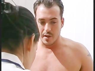hot nurse mya diamond in nylons receives facial