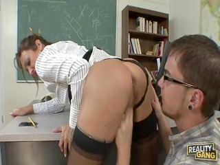 hawt teacher drilled by her much loved pupil