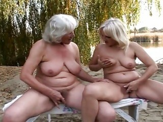 delightsome lesbo grannies fervent pussy