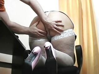 young blonde milf nurse blows hard boner