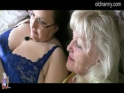 granny reads playboy and have trio sex