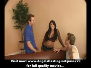 fantastic latin babe mother i does 47 in car and