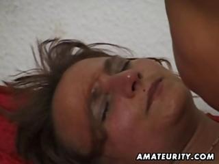 amateur mature wife sucks and copulates with cum