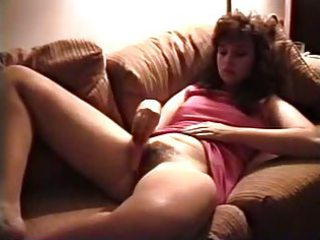 Vintage milf masturbates hairy pussy with carrot