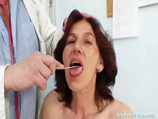 bushy cookie grandma visits pervy woman doctor