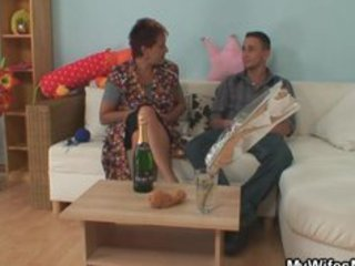 he is gets enticed by his gfs old mommy