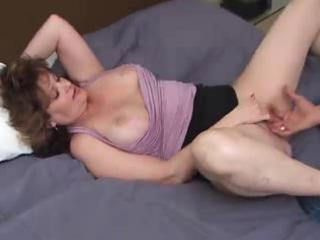 busty mature non-professional with younger guy