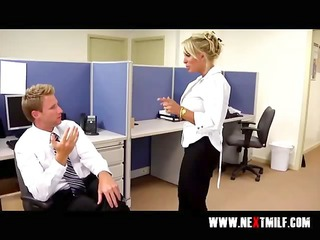 blowing big cock in the office