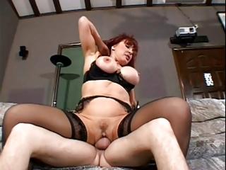 Hot redhead milf with big boobs