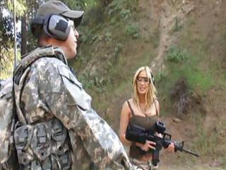 Hot mature bitch gives this soldier some hot