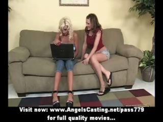 blond lesbo d like to fuck and youthful playgirl