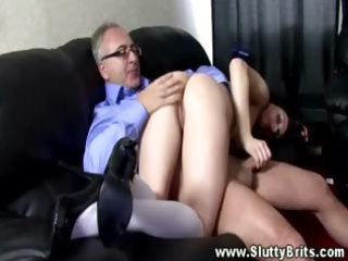 she is acquires gangbanged from behind by his
