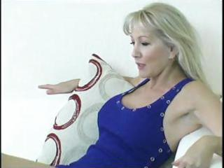 breasty older golden-haired gets her feet licked