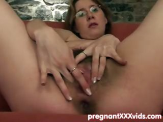 lad joins his fingering preggy wife