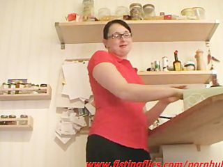 dilettante wife anal fisted in the kitchen