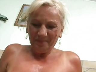 nasty busty granny in hard pov act