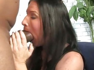 brunette mother receives boned by a large