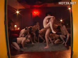 Young japanese milf takes some hot semen on her