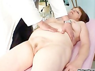 obese old mature mommy receives her pink