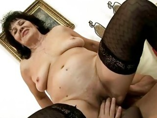 Nasty granny enjoys good fucking