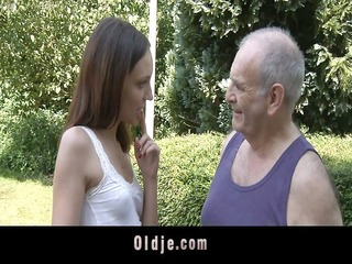 sensual girl is ridding old guy rod
