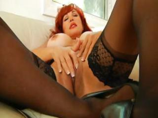 breasty aged redheaded mother i rubs and fingers
