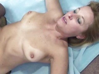 curvy and mature blonde liisa is riding a ramrod