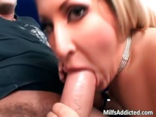 nice-looking blonde milf use her blowjob part2