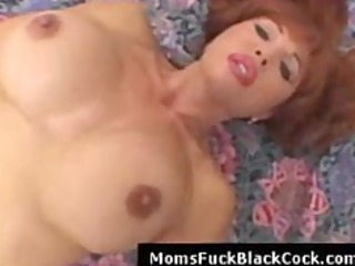 redhead busty mother i pounded by darksome man in