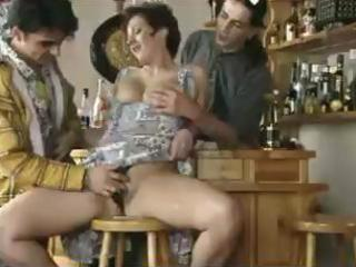 large titted aged fucked in a bar