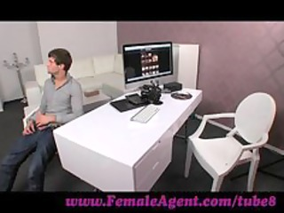 FemaleAgent. Shy stud fucks like a demon