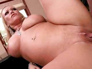 breasty golden-haired d like to fuck receives her
