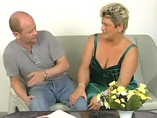fat aged housewife squirms