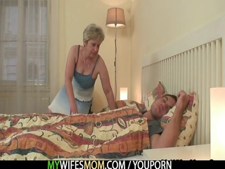 she is fucks her son in law as he is sleeps