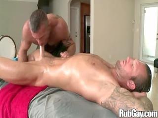 rubgay hard cock massage