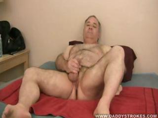 daddy sammy jerking off his older schlong