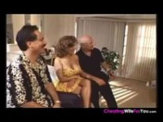 Mature slut wife goes for three cocks