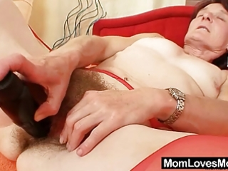unattractive granny matylda spreads and toys