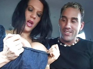 mother i shows huge boobs in car and gets drilled