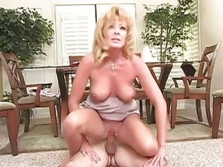 milf floozy rides wang on the floor