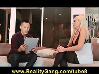 cheating bigtit blond wife slut has cum-hole