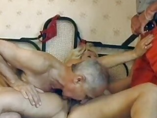mature german blond gets double screwed