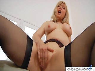 nina hartley spanks her pussy